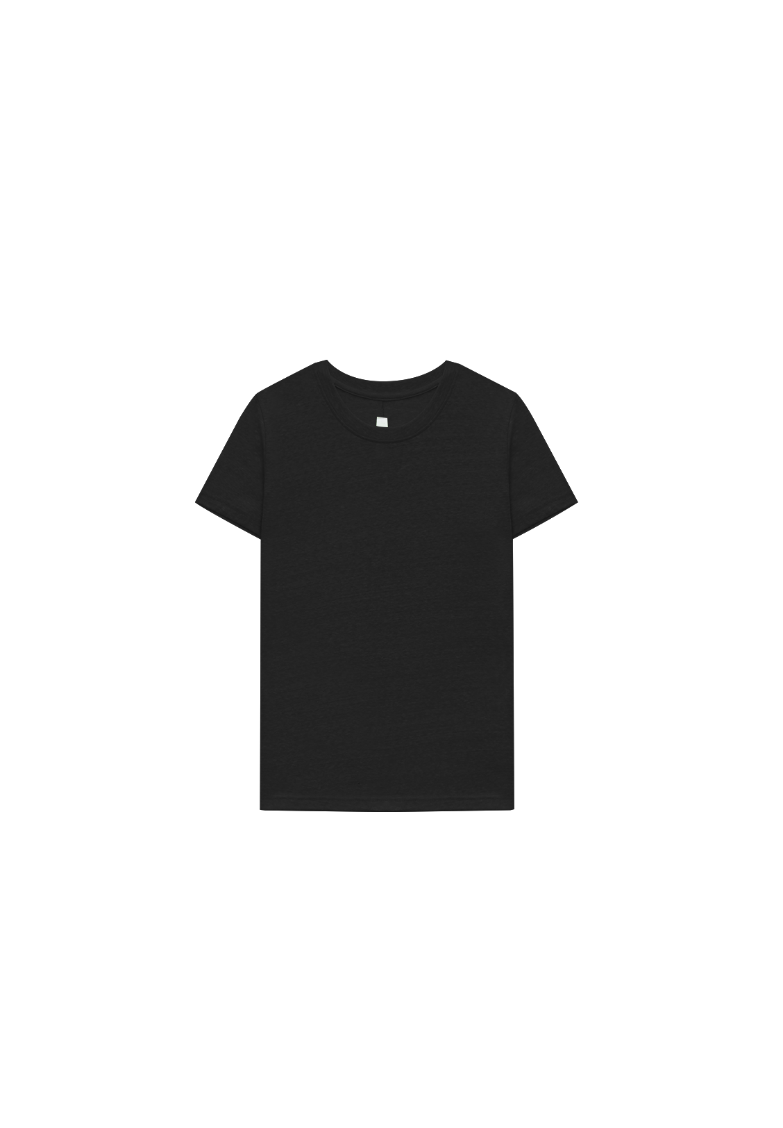 WOMEN'S CREW NECK TEE, BLACK