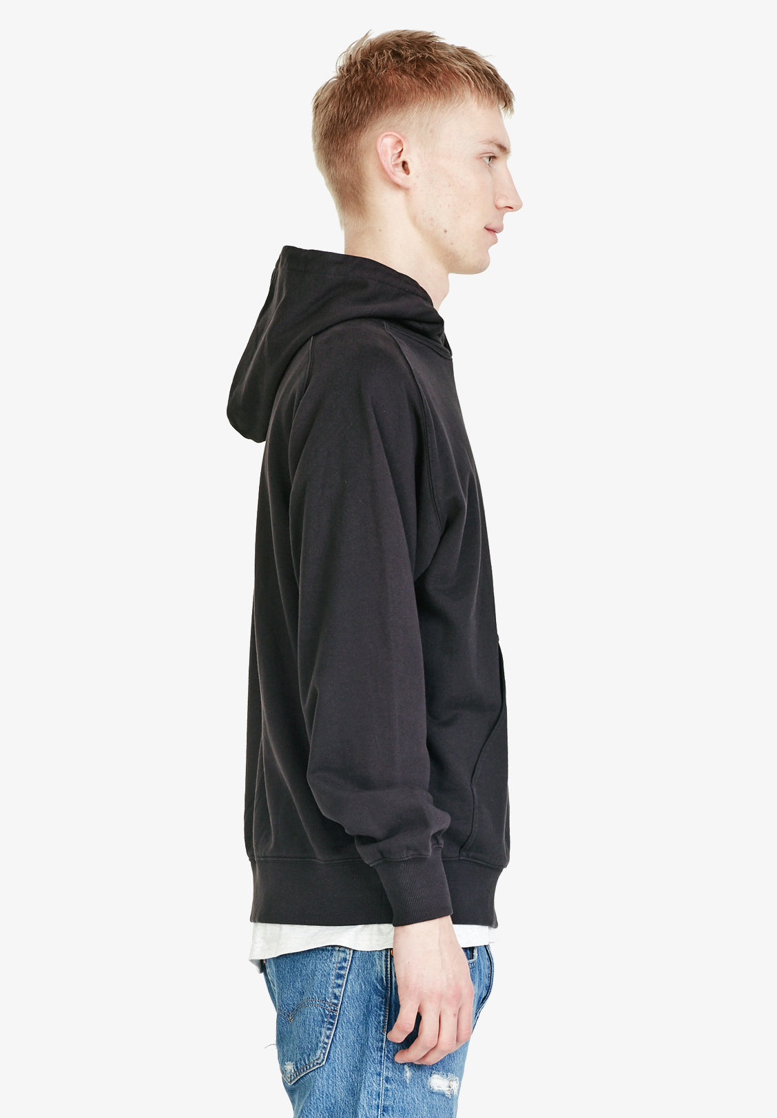 MEN'S FLEECE HOOD, VINTAGE BLACK