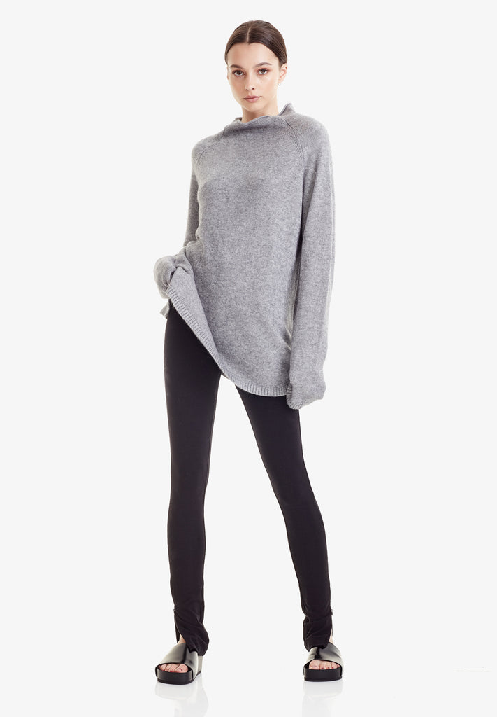 WOOL / CASHMERE FUNNEL KNIT, MARLE