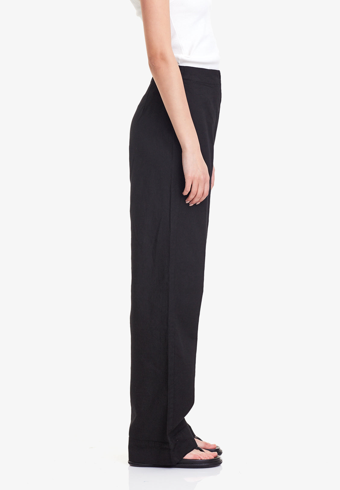 WOMENS WIDE LEG PANT, BLACK