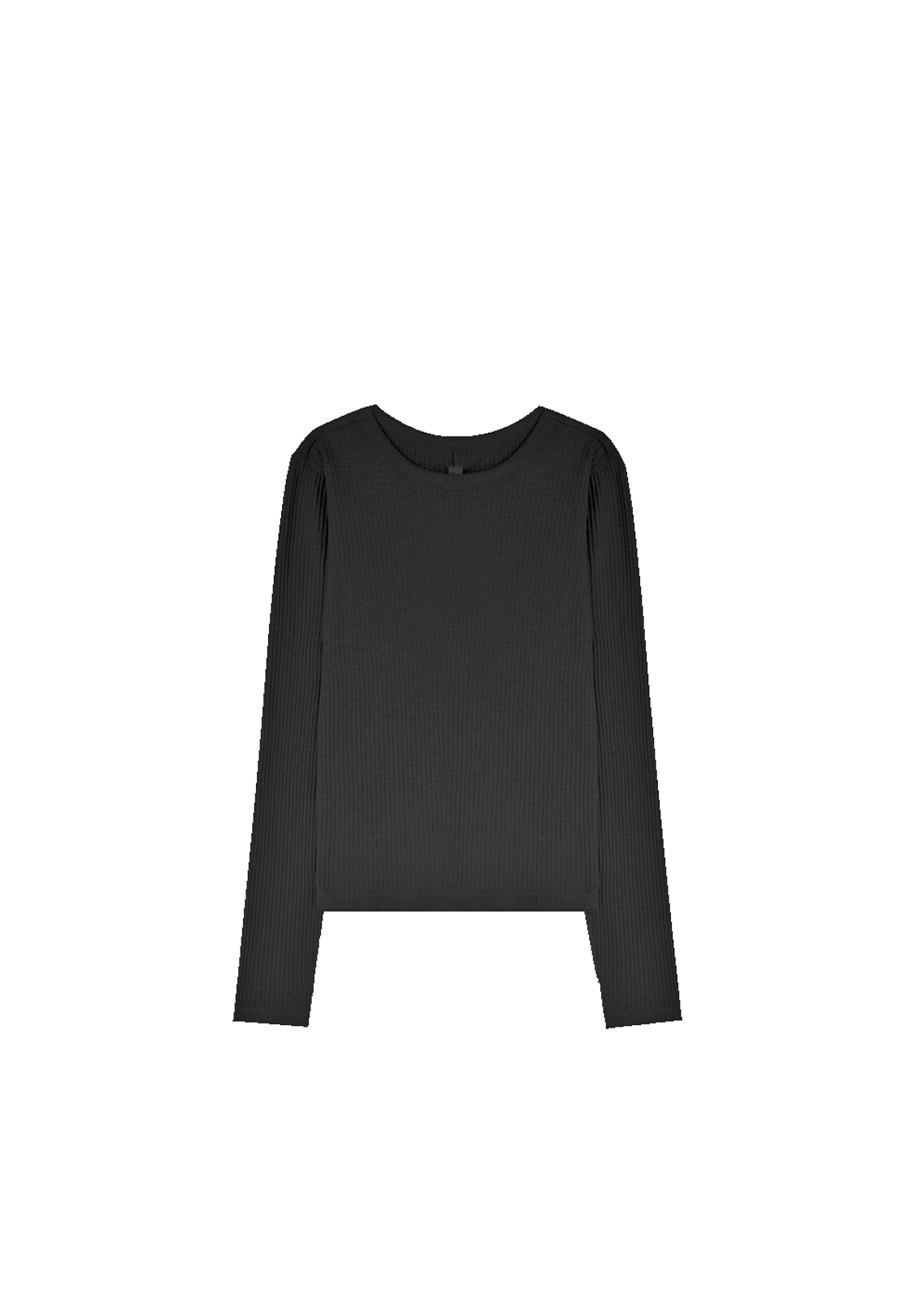 BASE RIBBED LS TEE, BLACK