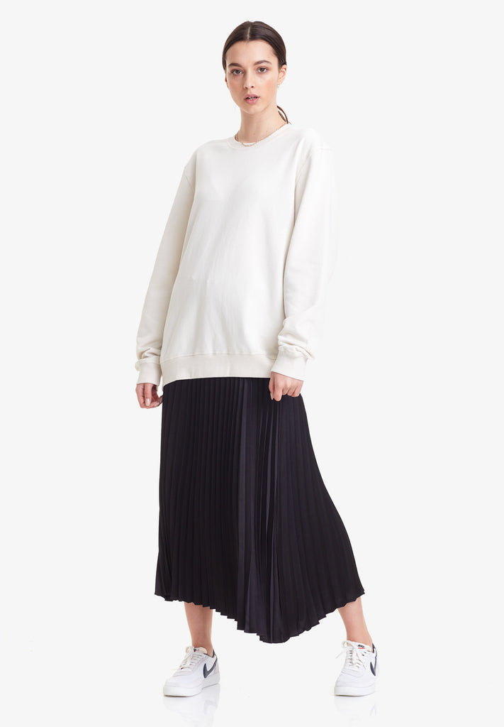 PLEATED SKIRT, BLACK