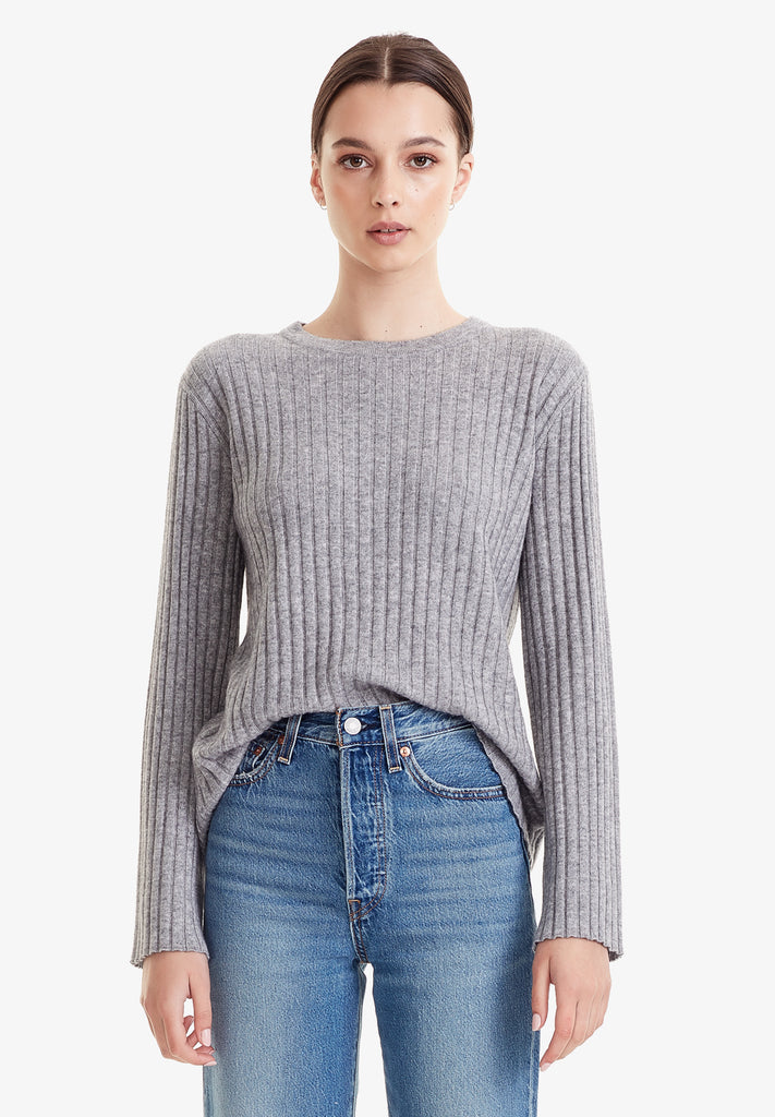 WOOL / CASHMERE LS, MARLE