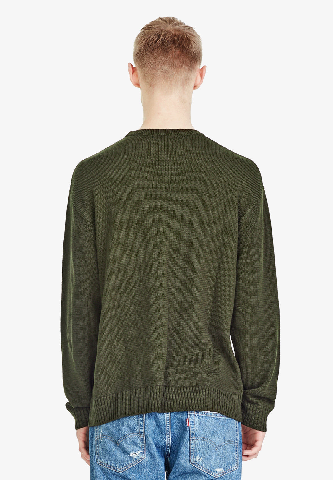 MENS OVERSIZED JUMPER, KHAKI