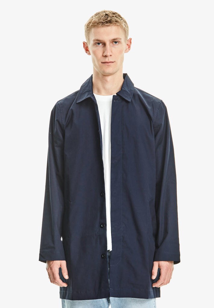 MENS MAC COAT, NAVY