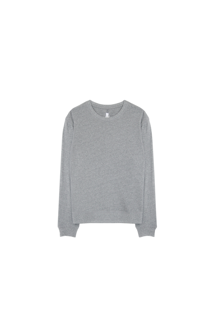 MEN'S FLEECE CREW, DARK GREY