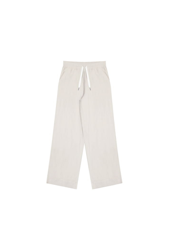 WOMEN'S WIDE LEG LINEN PANT, NATURAL