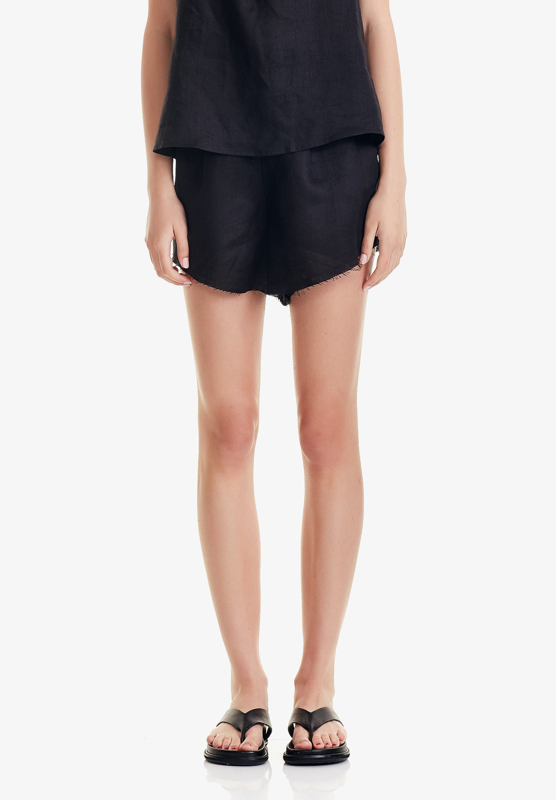 WOMEN'S SLIP SHORT, BLACK