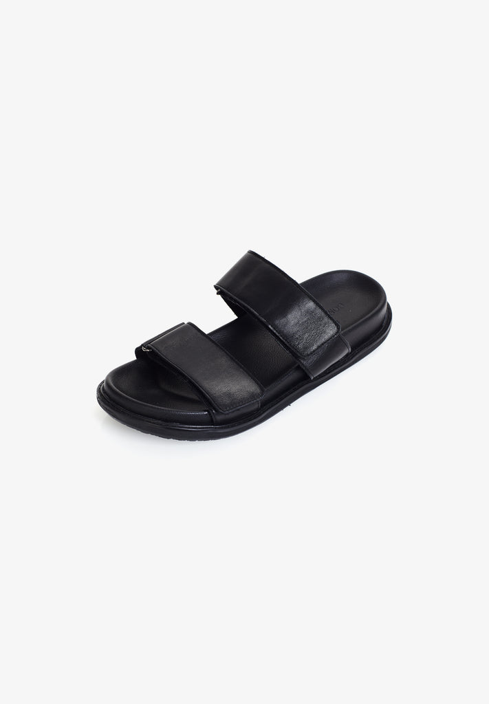 WOMEN'S DOUBLE SLIDE, BLACK