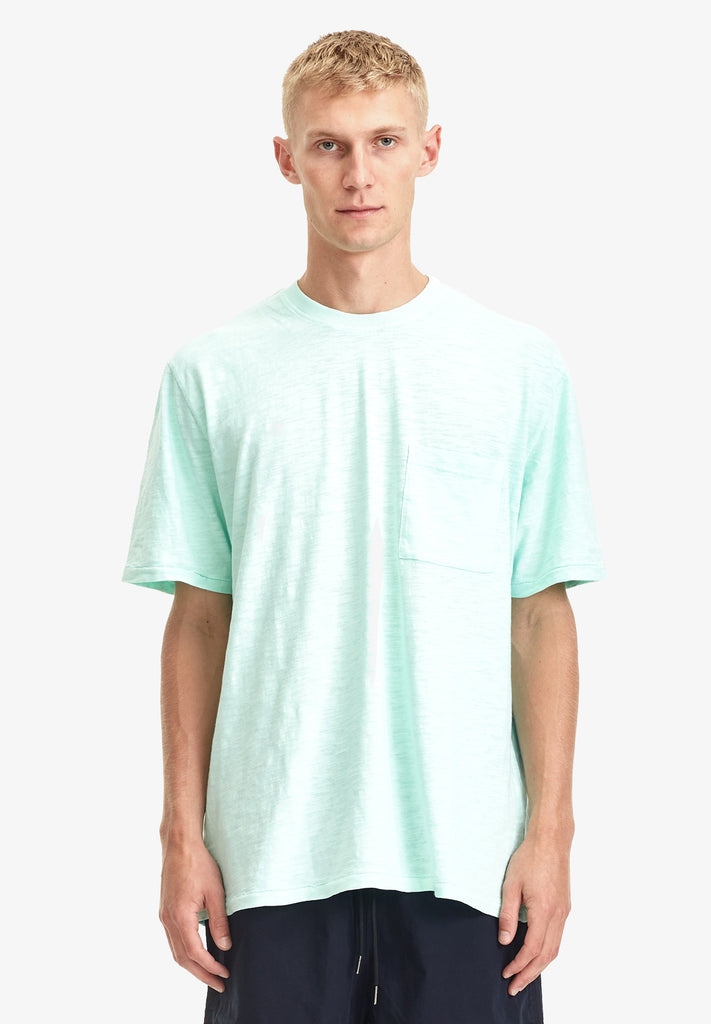 MEN'S RELAXED POCKET TEE, SEA FOAM