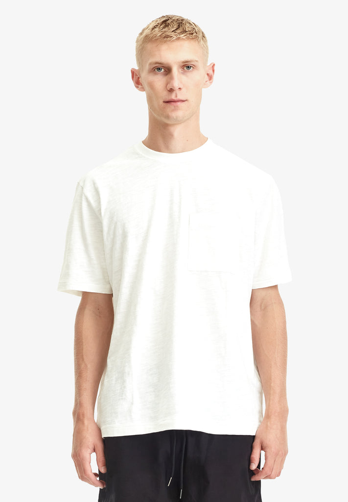 MEN'S RELAXED POCKET TEE, WHITE
