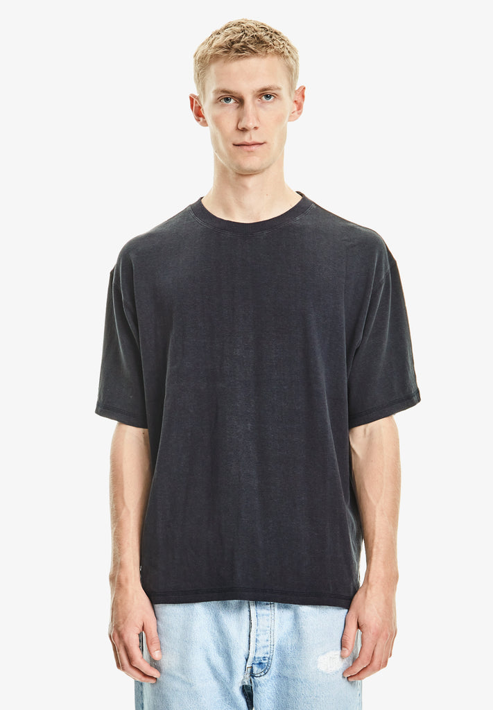 MEN'S HEMP / ORGANIC COTTON TEE, NAVY