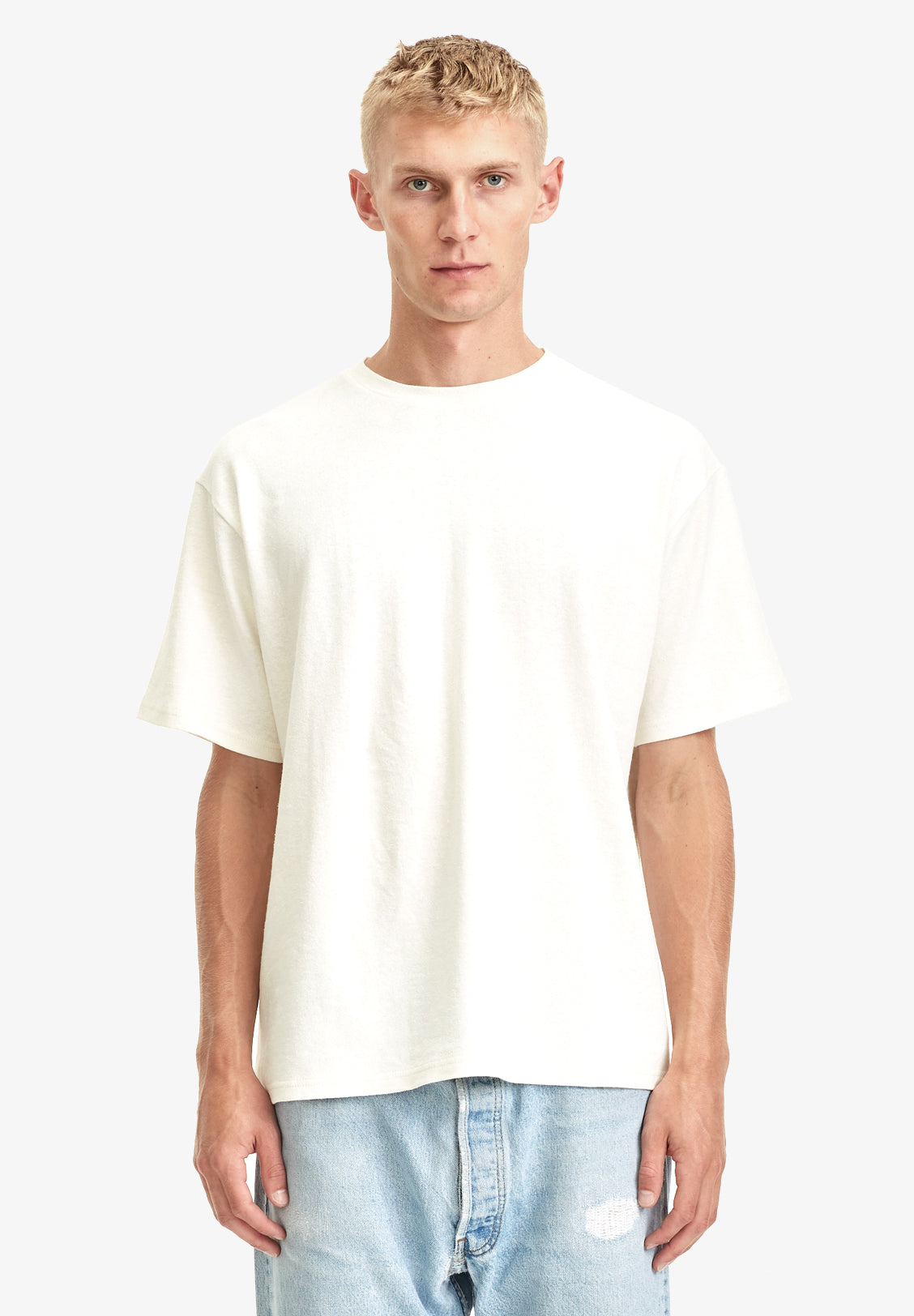 MEN'S HEMP / ORGANIC COTTON TEE, OFF WHITE