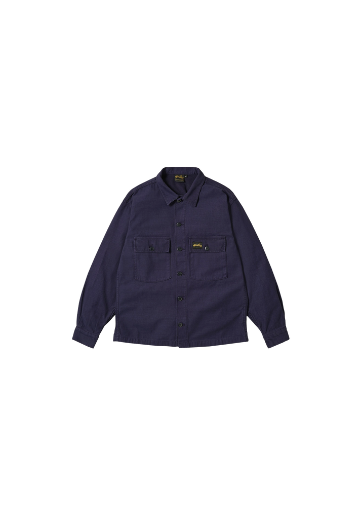 STAN RAY - CPO SHIRT, NAVY SATEEN