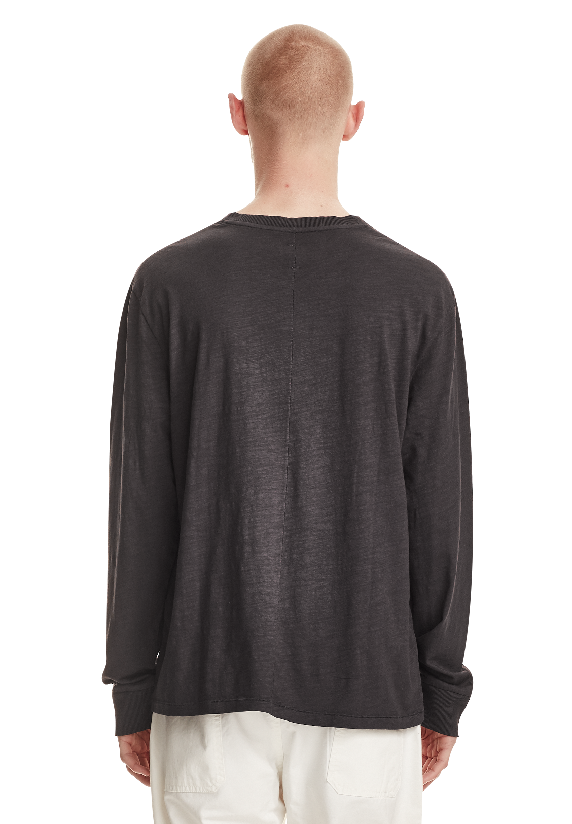 RELAXED LS TEE, VINTAGE GREY