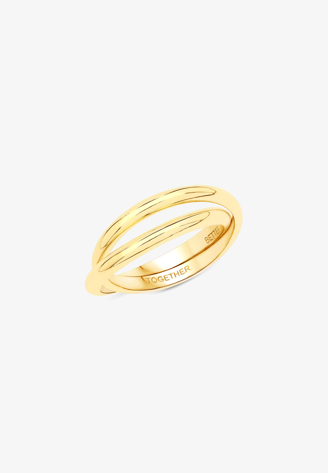 FLASH - BETTER TOGETHER RINGS, 14K GOLD VERMEIL