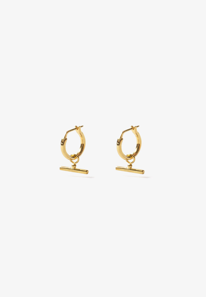 FLASH - CHLOE SLEEPER HOOPS, 14K GOLD VERMEIL
