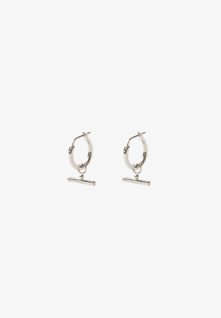 FLASH - CHLOE SLEEPER HOOPS, STERLING SILVER