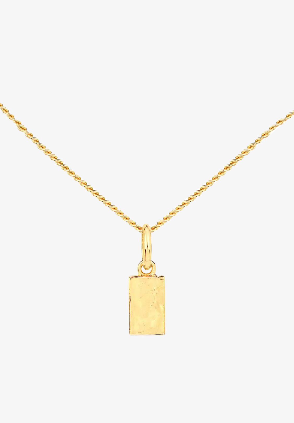 FLASH - INGOT NECKLACE, 14K GOLD VERMEIL