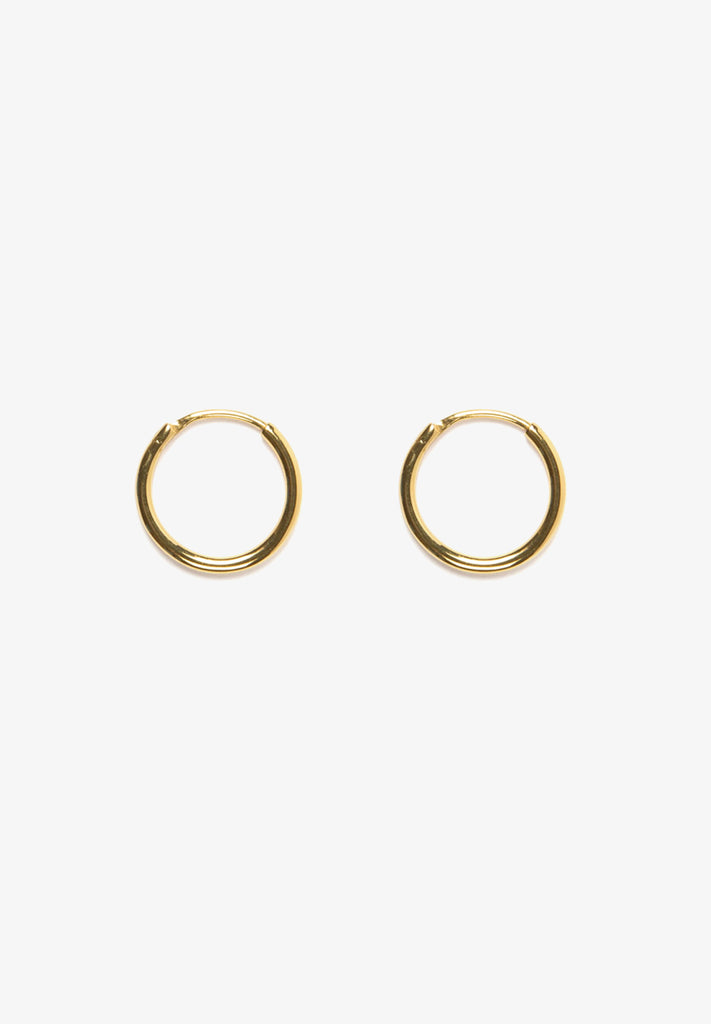 FLASH - MONDO MINI HOOPS, 14K GOLD VERMEIL
