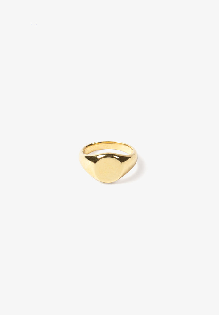FLASH - CLASSIC SIGNET RING, 14K GOLD VERMEIL