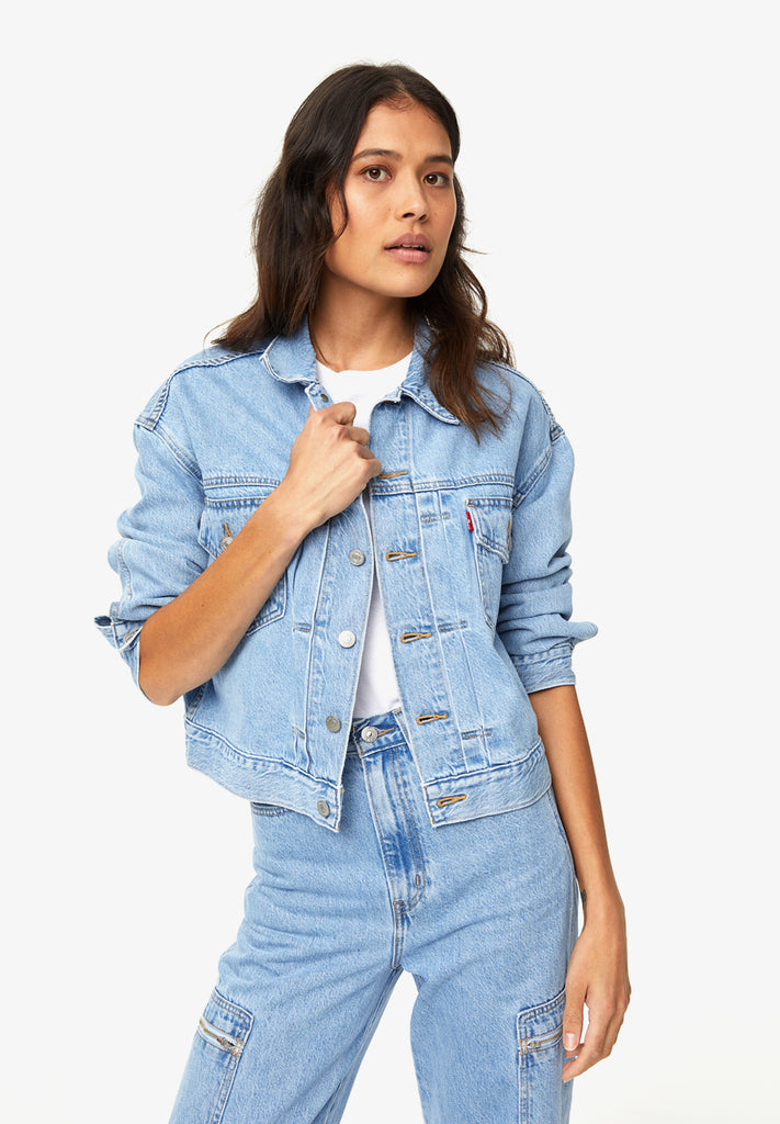 LEVI'S – WOMEN'S NEW HERITAGE TRUCKER JACKET, GET OVER IT