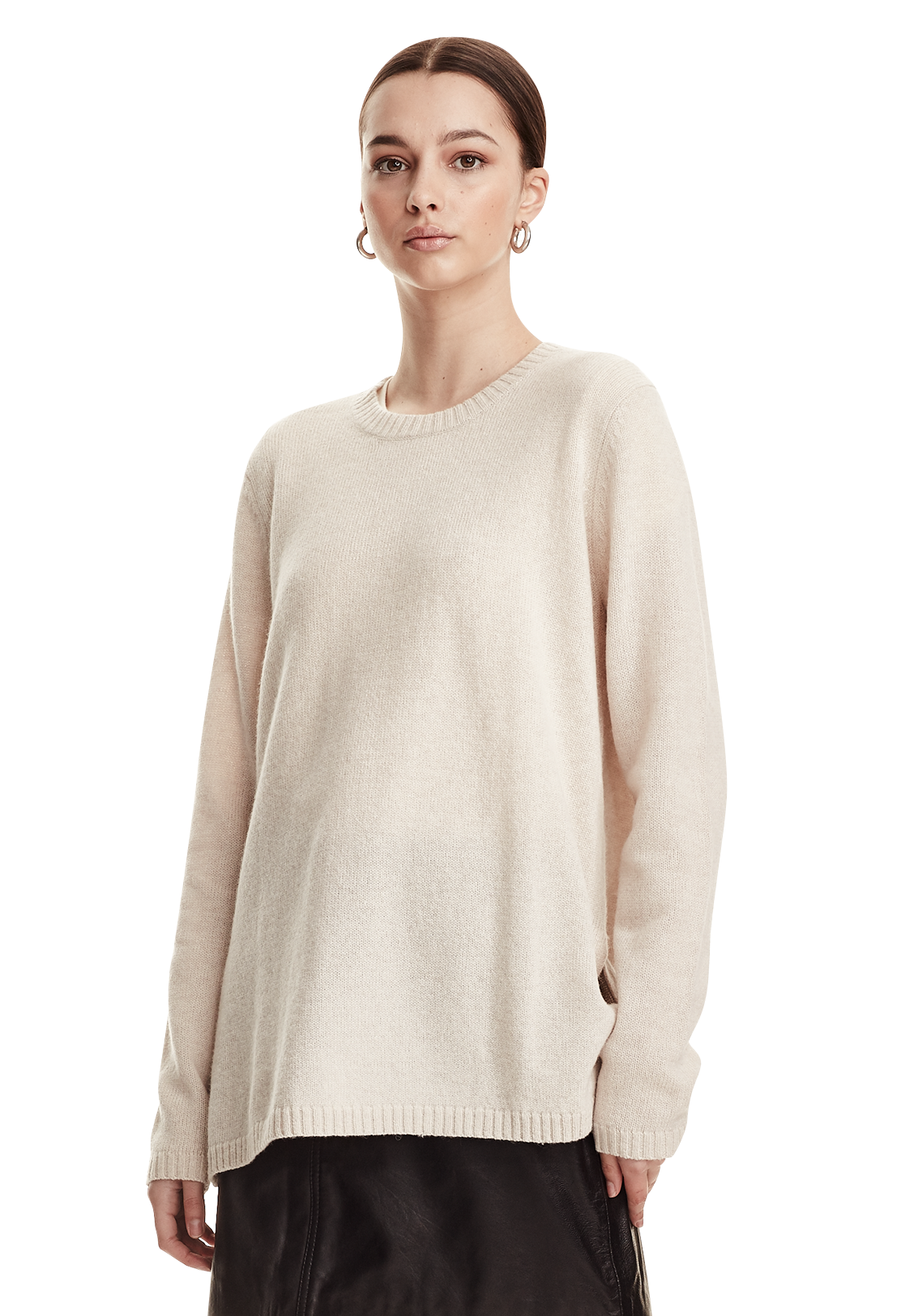 OVERSIZED JUMPER, SHEARLING