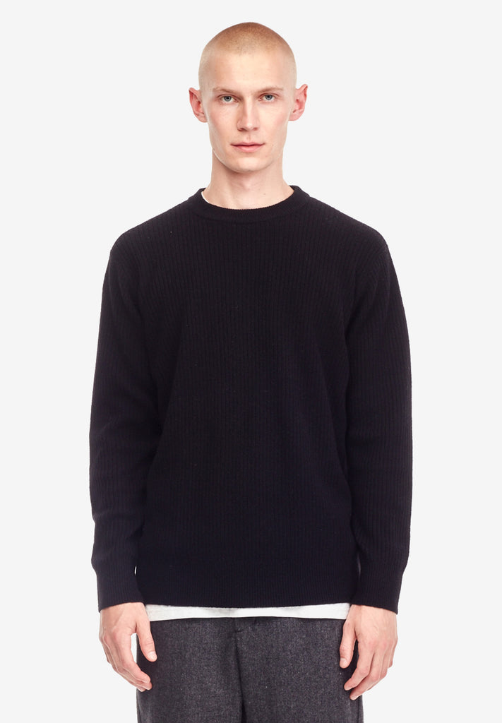 MERINO JUMPER, BLACK
