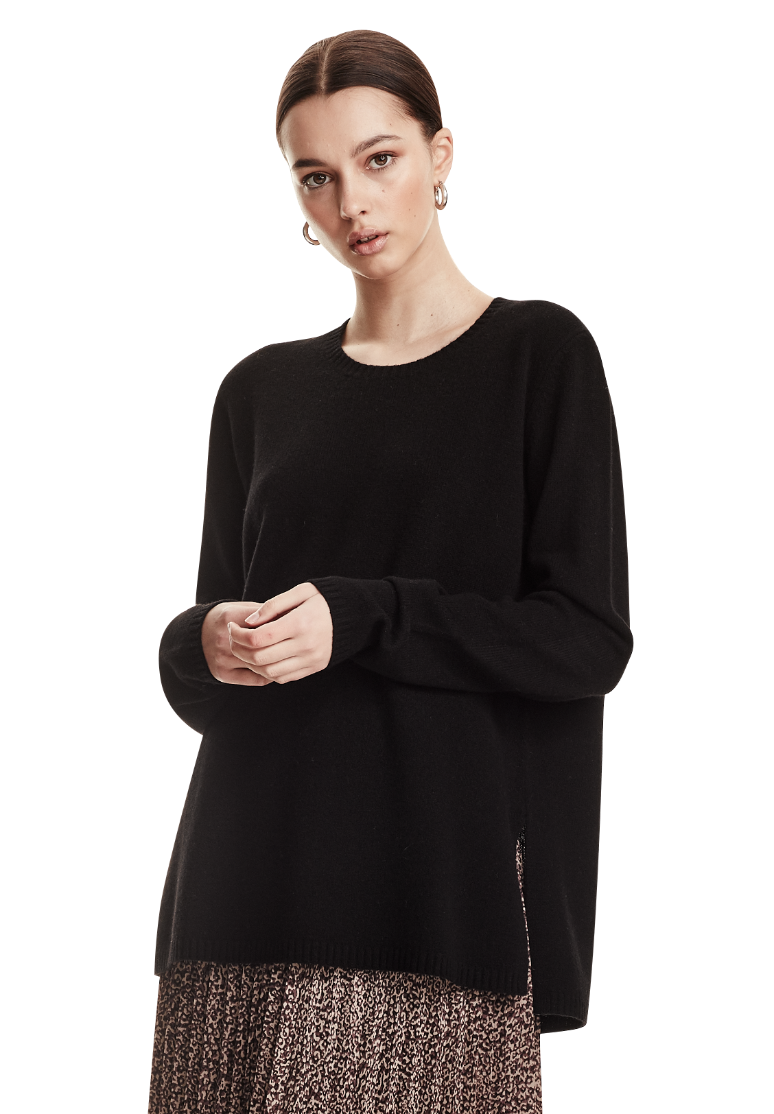 OVERSIZED JUMPER, BLACK