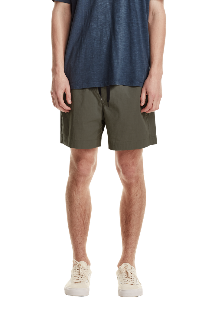 MEN'S BEACH SHORT, GREY GREEN