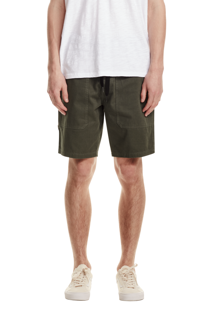 MENS UTILITY SHORT, GREY GREEN