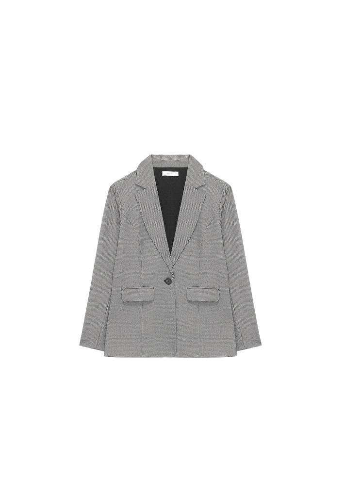 WOMENS BLAZER, HOUNDSTOOTH