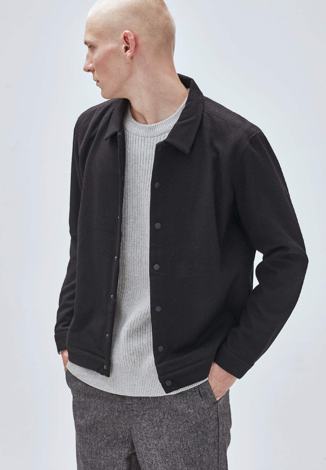 COACHES JACKET, BLACK