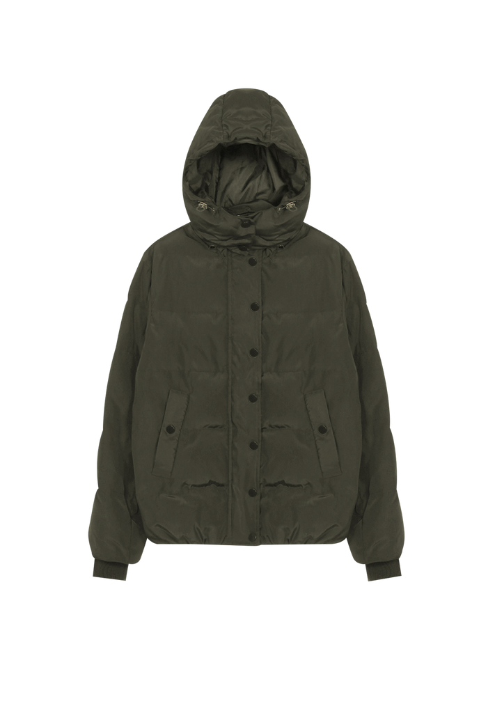 PUFFER JACKET, DEEP GREEN