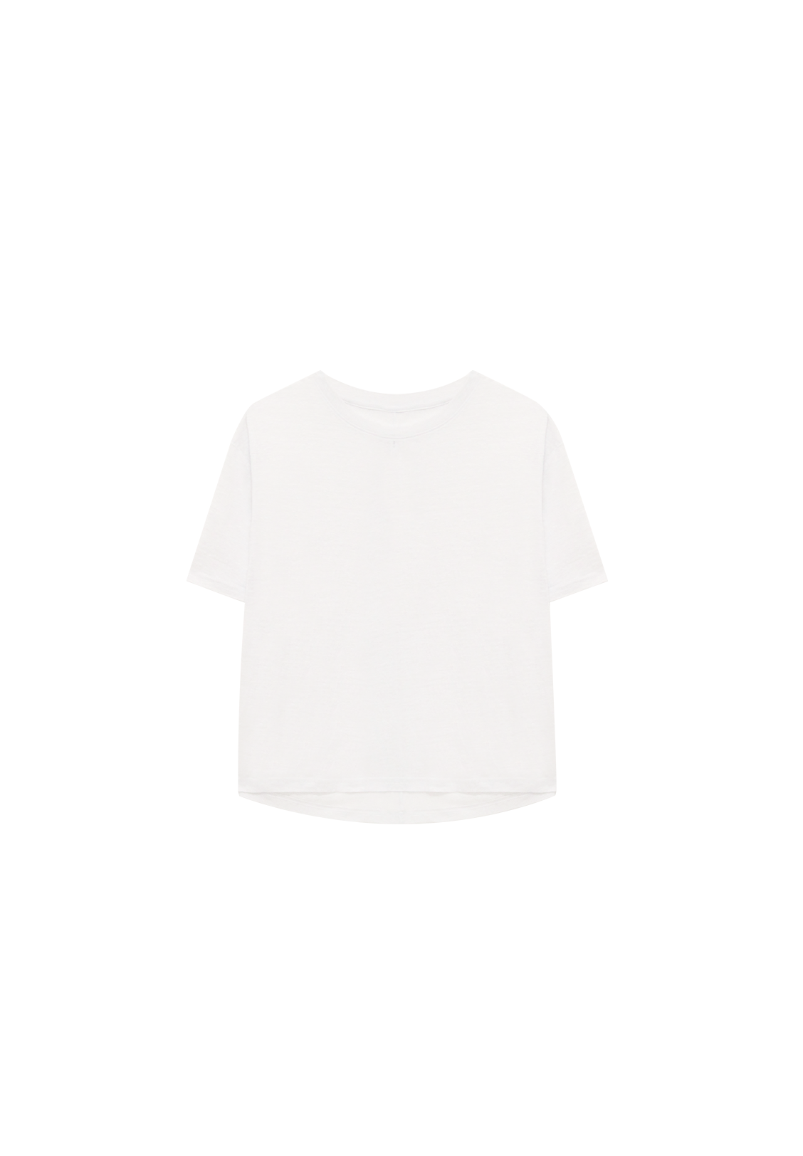 WOMENS OVERSIZED LINEN TEE, WHITE