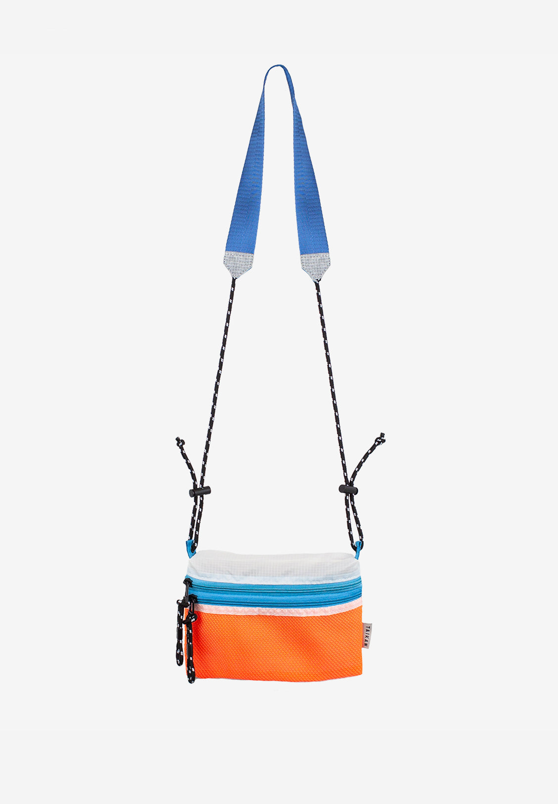 SACOCHE BAG Small, Orange/White/Teal
