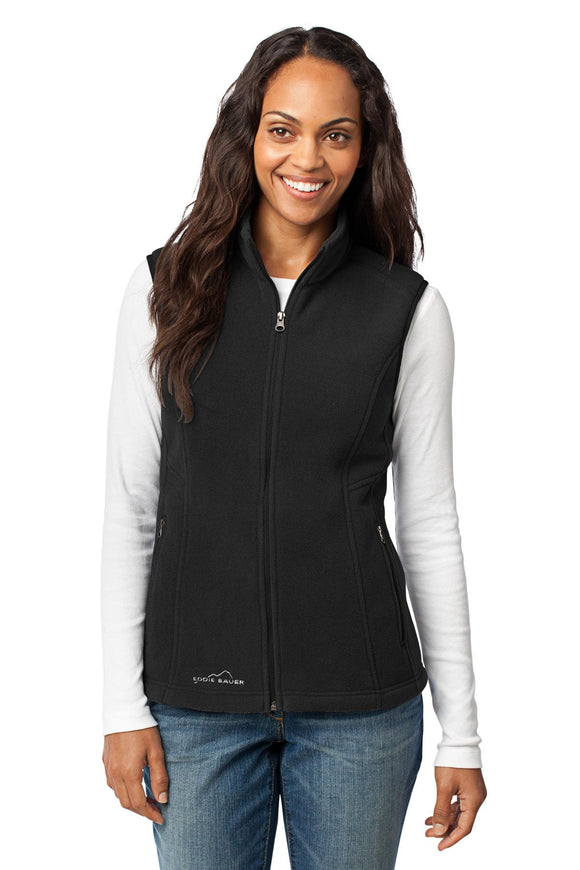 Eddie Bauer® - Ladies Fleece Vest in Black    EB205