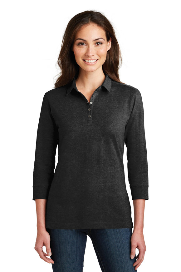 Port Authority® Ladies 3/4-Sleeve Meridian Cotton Blend Polo   L578