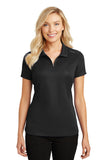 Port Authority® Ladies Pinpoint Mesh Zip Polo    L580