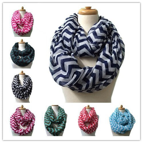 Wholesale Bulk Pack 12 Pack Fashion Light Weight Infinity Scarves-GDP3791