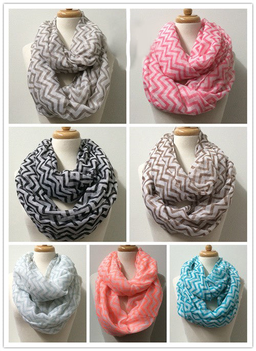 Wholesale Bulk Pack 12 Pack Fashion Light Weight Infinity Scarves-GDP3789