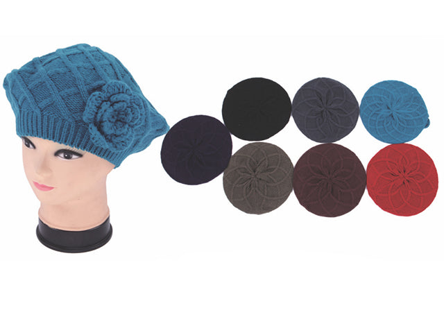Wholesale Bulk Pack 2 Layer Knit Beret-GDP3996
