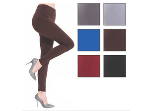 Wholesale Bulk Pack Fleece Lined Leggings-GDP4215