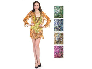 Wholesale Bulk Pack Chiffon Cover Up Assored Colors-GDP4645