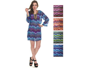 Wholesale Bulk Pack Chiffon Cover Up Assored Colors-GDP4641