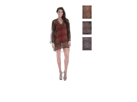 Wholesale Bulk Pack Chiffon Cover Up Assored Colors-GDP4639