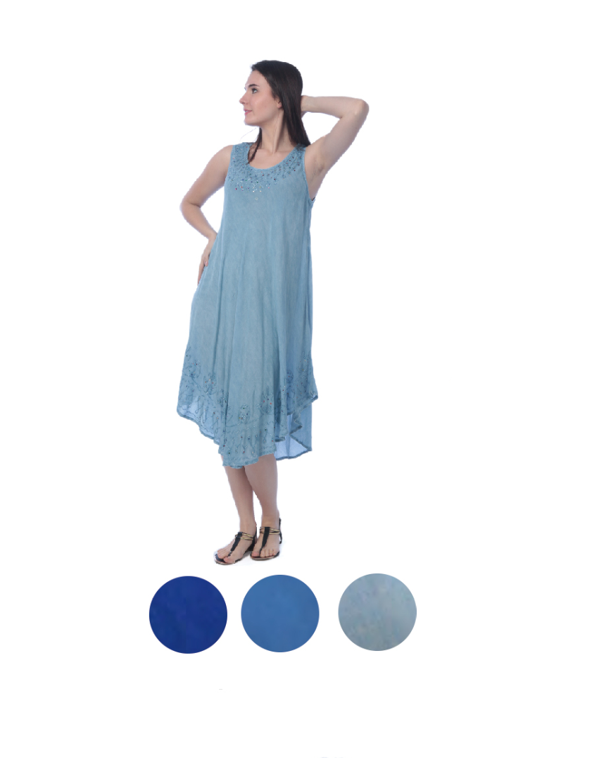Wholesale Bulk Pack Rayon Dress- Denim Looks-GDP4590