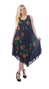 Wholesale Bulk Pack Rayon Tie Dye Dress-GDP4542