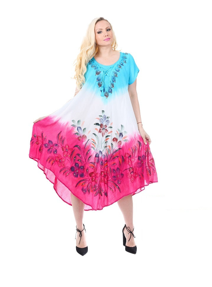 Wholesale Bulk Pack Rayon Tie Dye Dress-GDP4540