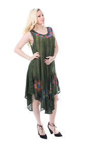 Wholesale Bulk Pack Rayon Acid Wash Dress-GDP4532